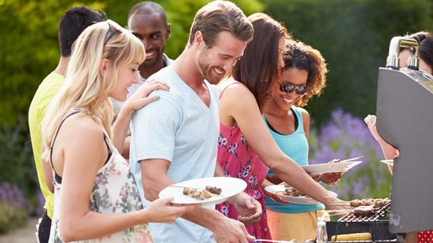 People enjoying a BBQ