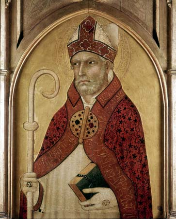 St Augustine of Hippo, early 14th century. Artist: Lippo Memmi