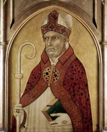 St Augustine of Hippo, early 14th century. Artist: Lippo Memmi